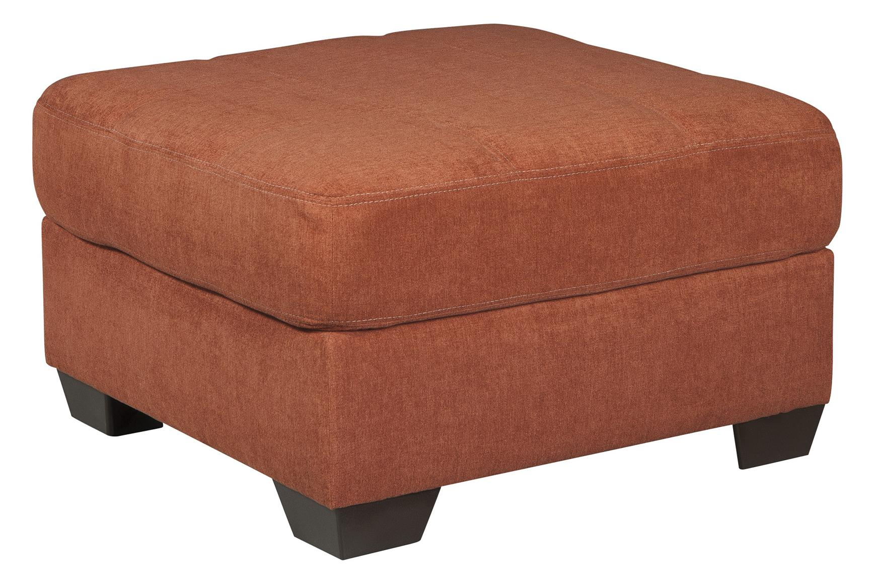 Benchcraft Delta City - Rust Oversized Accent Ottoman - Item Number: 1970108