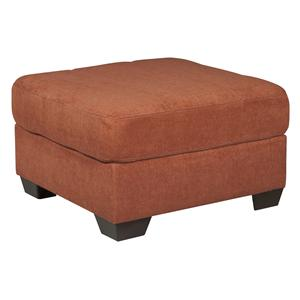 Benchcraft Delta City - Rust Oversized Accent Ottoman