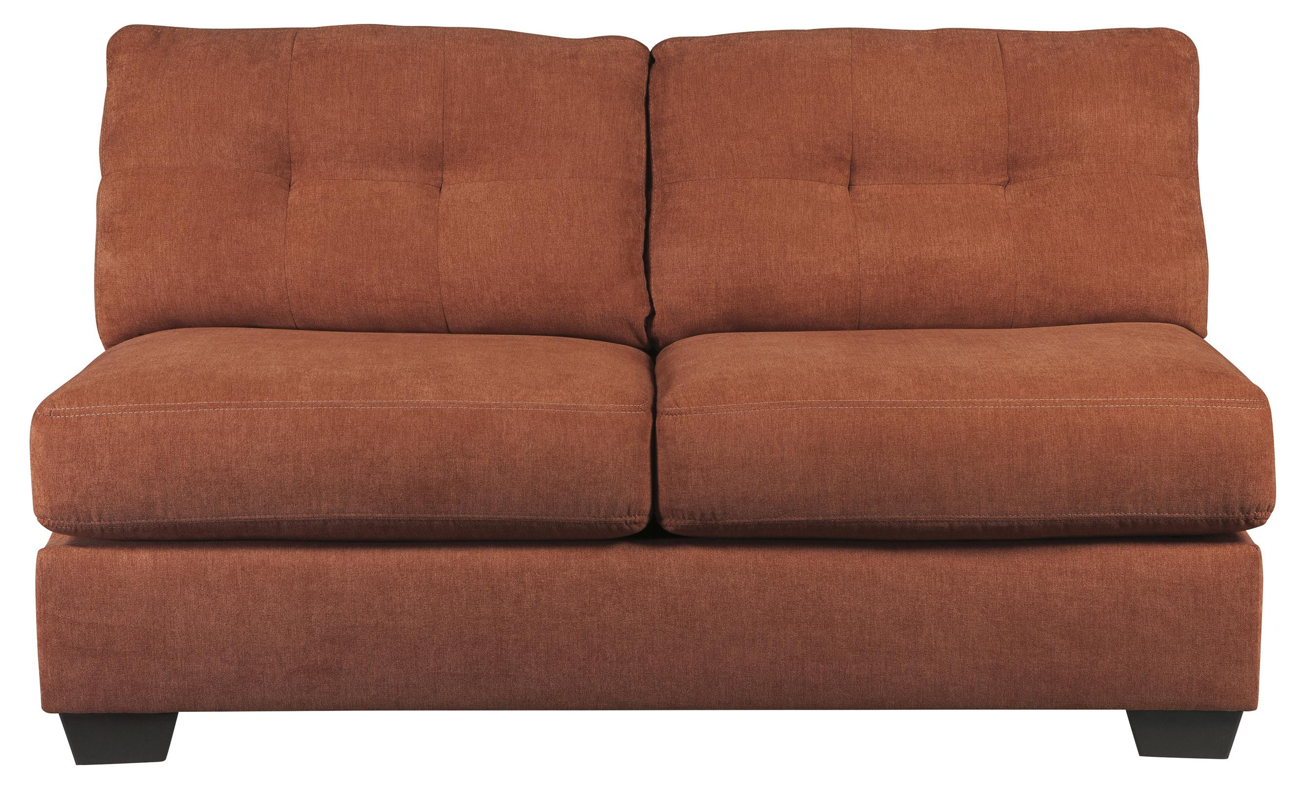 Benchcraft Delta City - Rust Armless Loveseat - Item Number: 1970134