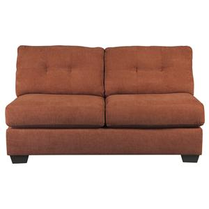 Benchcraft Delta City - Rust Armless Loveseat