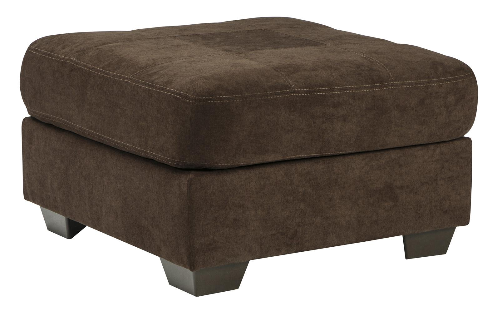 Benchcraft Delta City - Chocolate Oversized Accent Ottoman - Item Number: 1970208