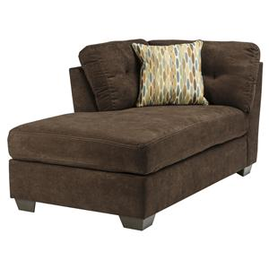 Benchcraft Delta City - Chocolate LAF Corner Chaise
