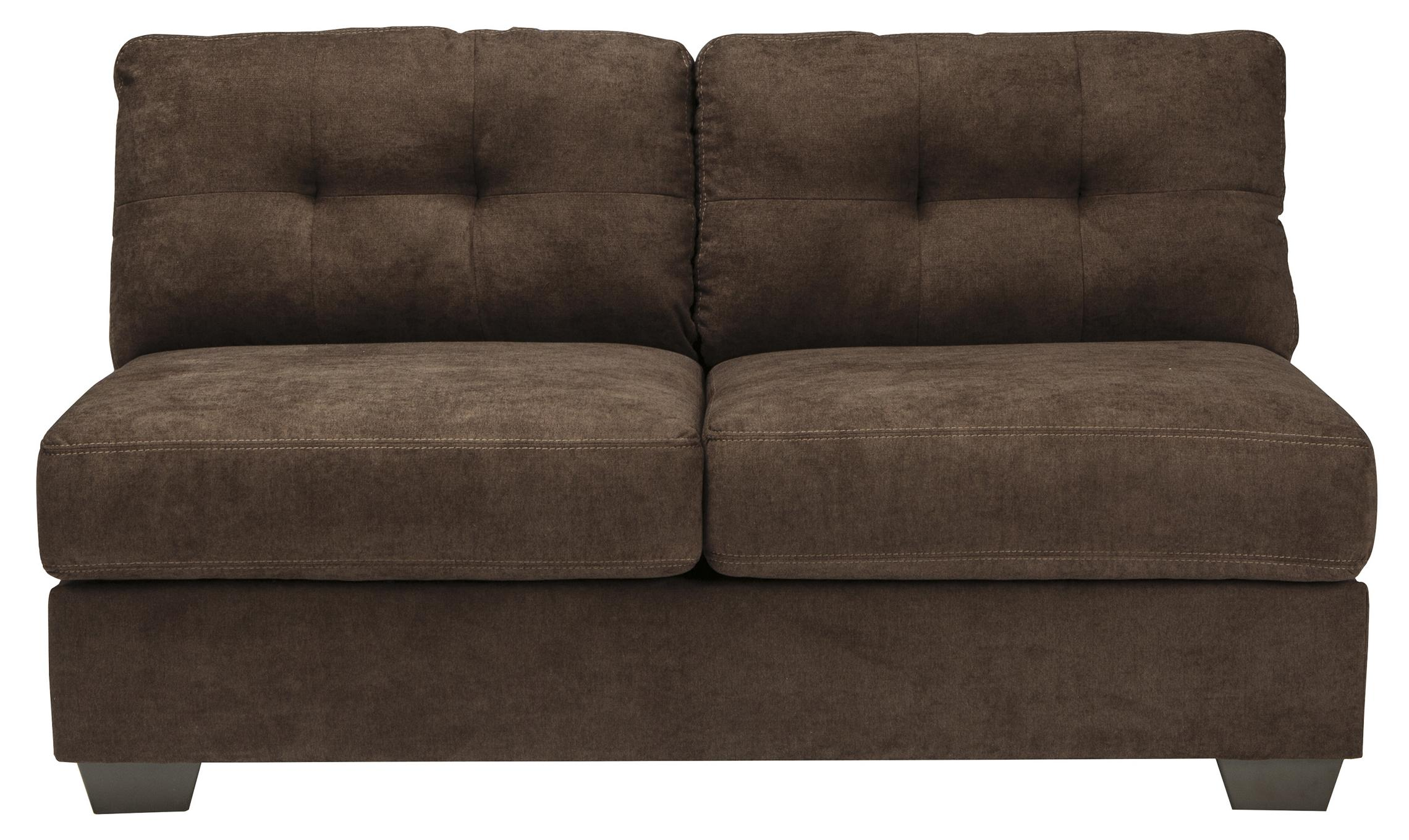 Ashley/Benchcraft Delta City - Chocolate Armless Loveseat - Item Number: 1970234