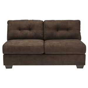 Benchcraft Delta City - Chocolate Armless Loveseat