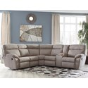 Benchcraft Demarion 2-Piece Reclining Corner Sectional - Item Number: 5230248+67