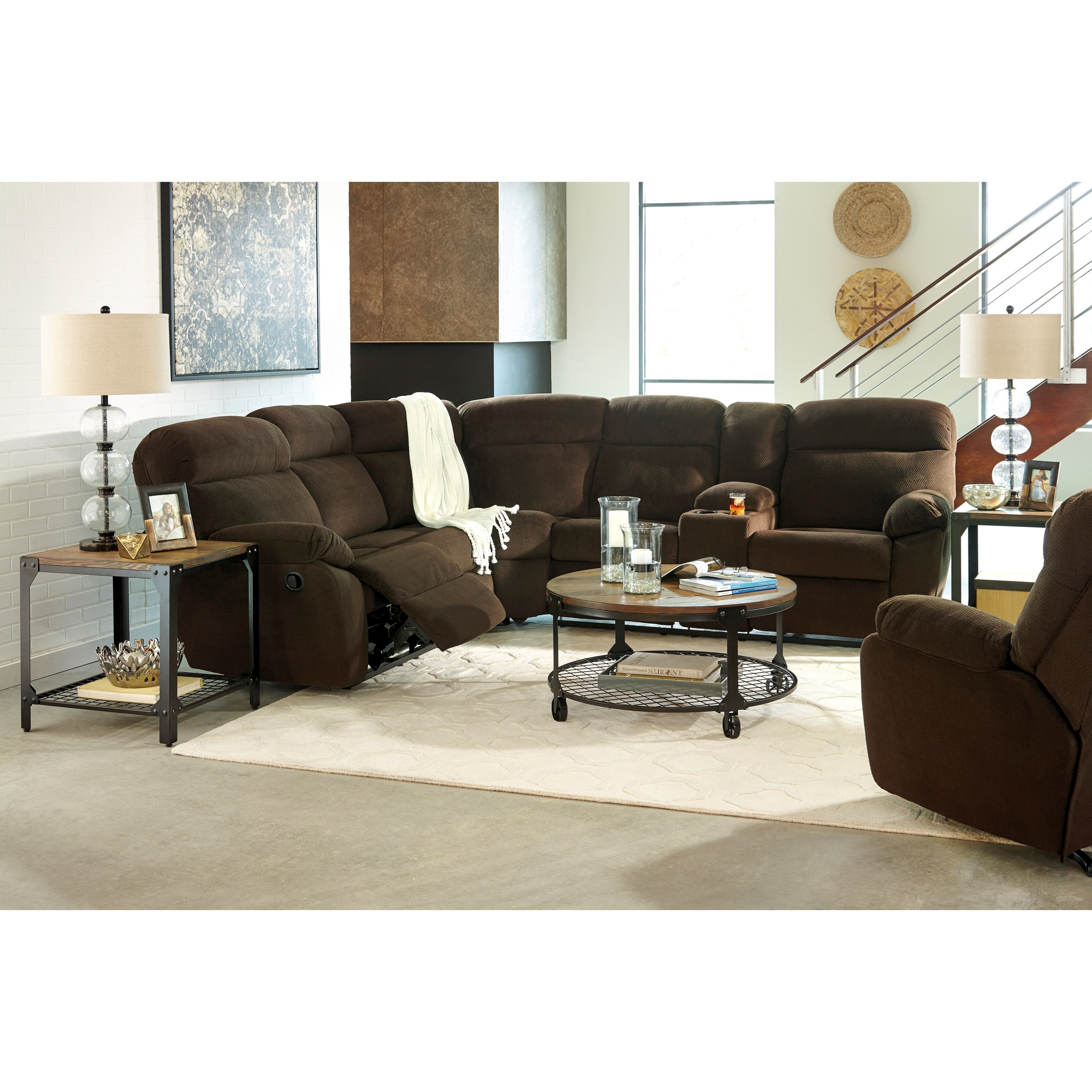Ashley/Benchcraft Demarion Reclining Living Room Group - Item Number: 52303 Living Room Group 1