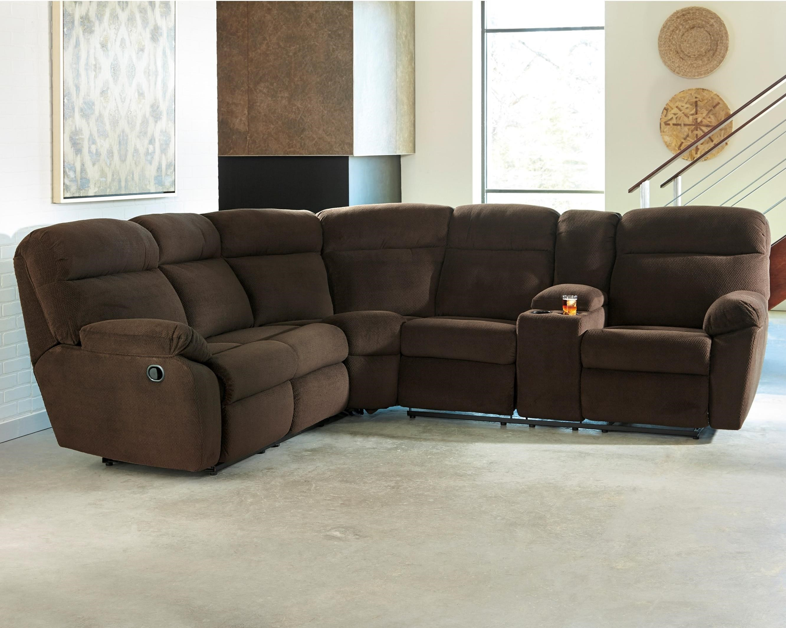 Ashley/Benchcraft Demarion 2-Piece Reclining Corner Sectional - Item Number: 5230348+67