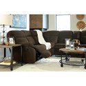 Benchcraft Demarion 2-Piece Reclining Corner Sectional