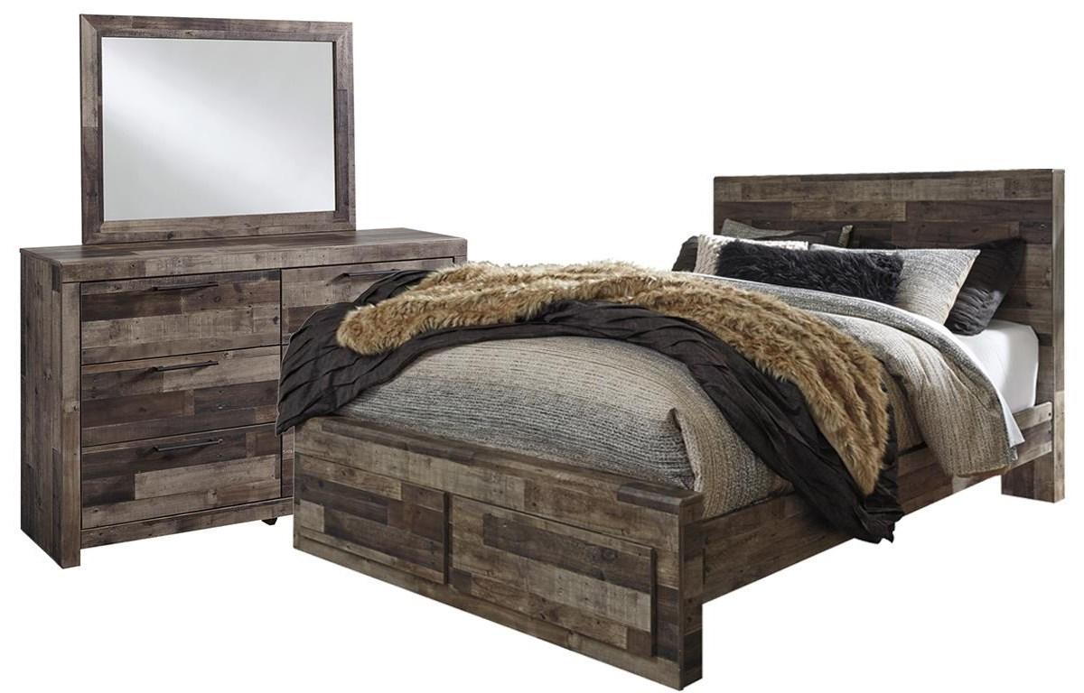 Derekson Queen Storage Bed, Dresser And Mirror by Benchcraft at Johnny Janosik