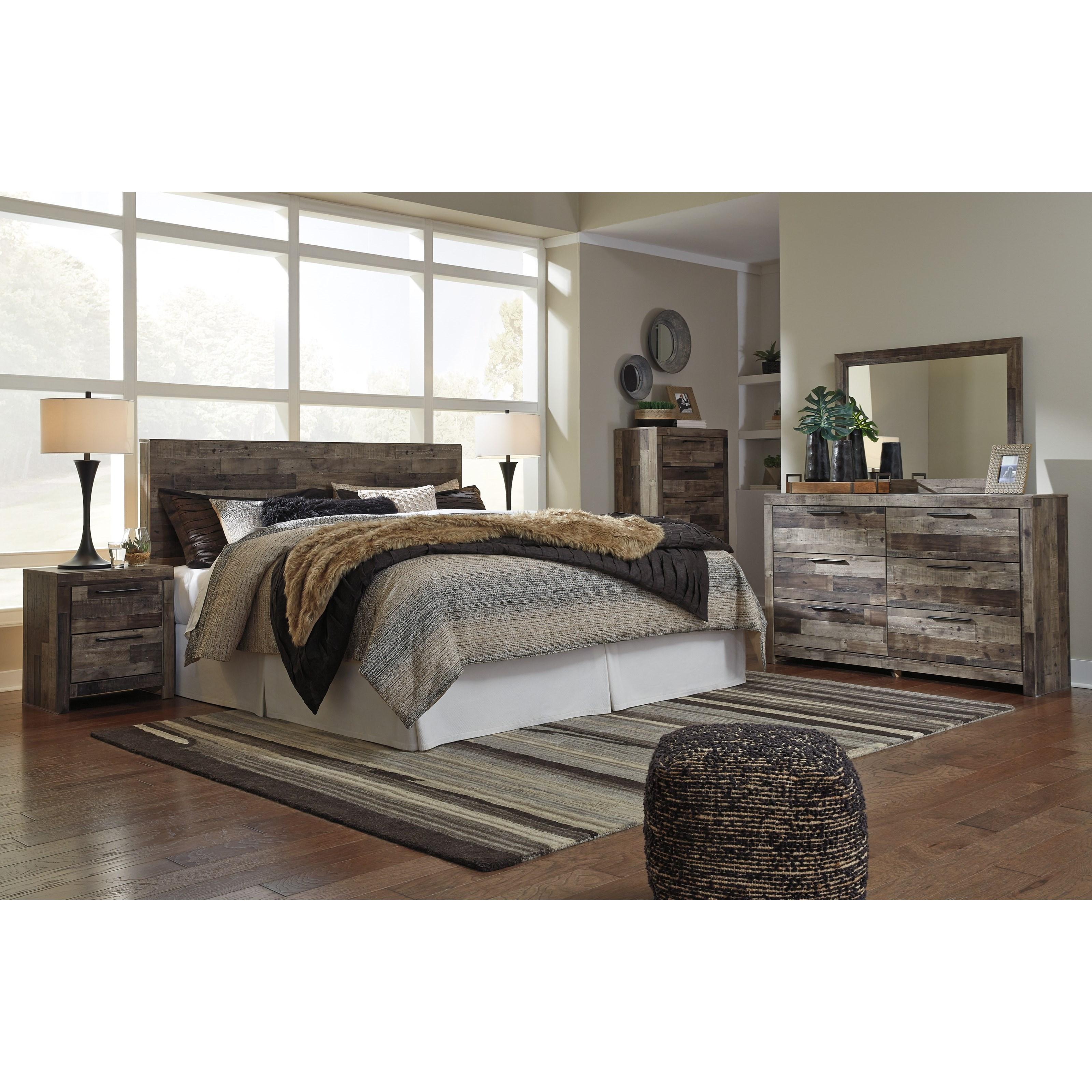 Derekson King Bedroom Group by Benchcraft at Darvin Furniture