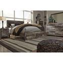 Benchcraft Derekson Rustic Modern Queen Storage Bed with 2 Footboard Drawers