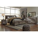 Benchcraft Derekson Rustic Modern King Panel Bed