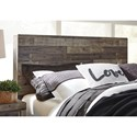 Benchcraft Derekson Rustic Modern King Storage Bed with 2 Footboard Drawers