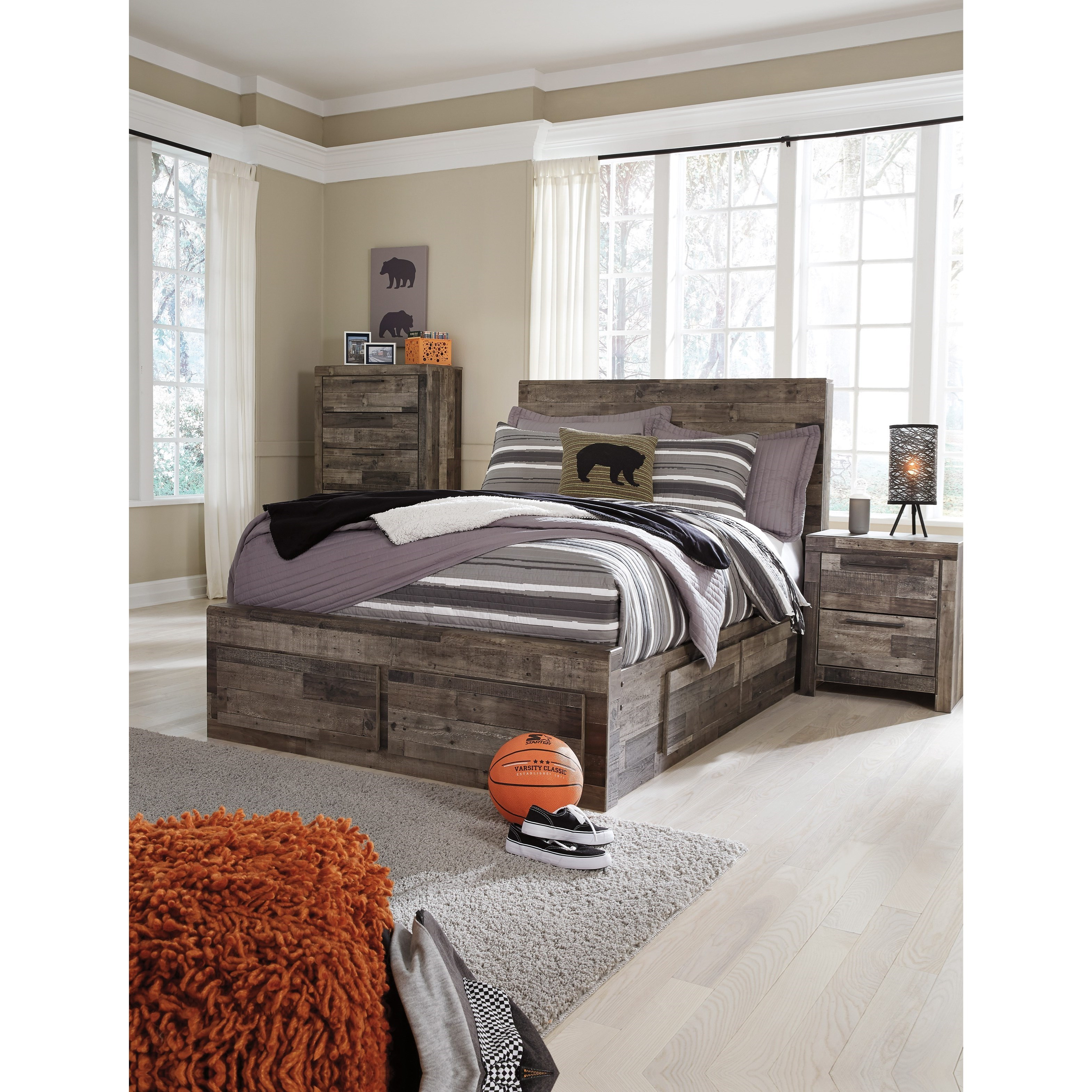 Signature design by ashley derekson rustic modern full - Ashley furniture full bedroom sets ...