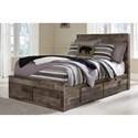 Benchcraft Derekson Rustic Modern Full Storage Bed with 6 Drawers