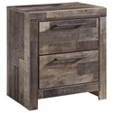 Benchcraft Derekson 2-Drawer Nightstand - Item Number: B200-92