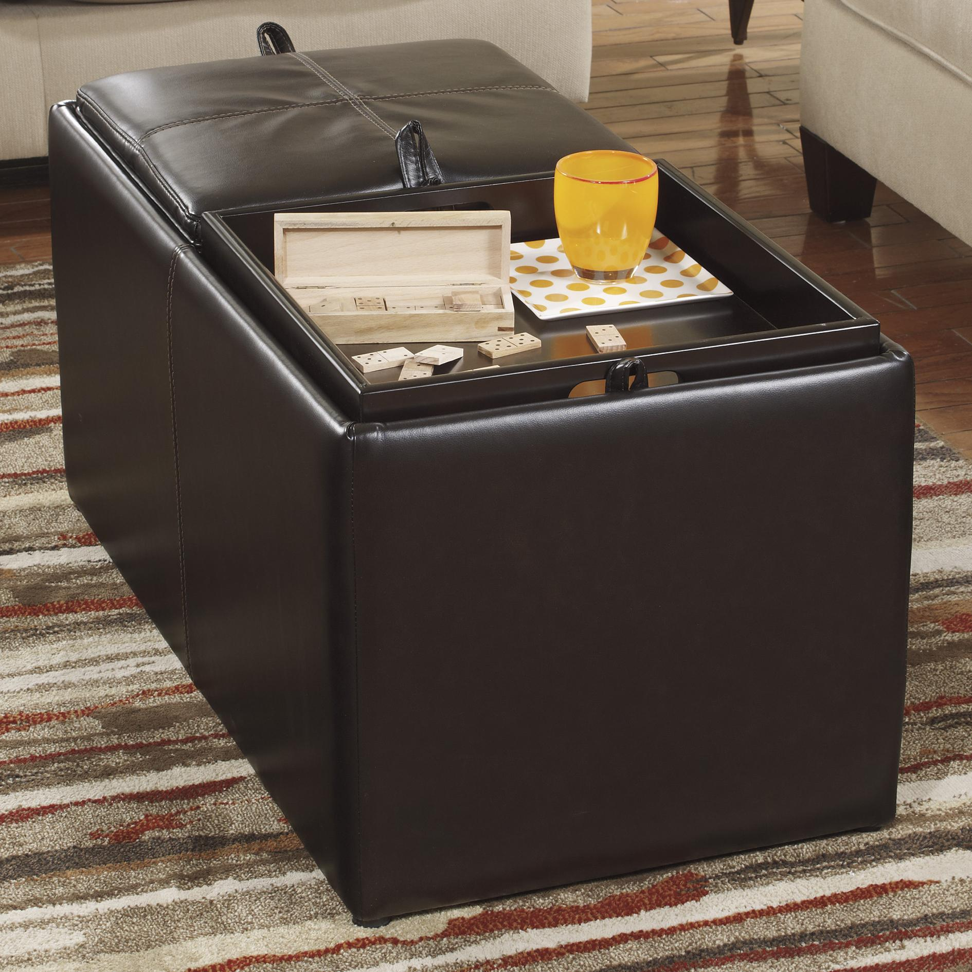 Benchcraft Deshan Accents Ottoman With Storage - Item Number: 160XX11