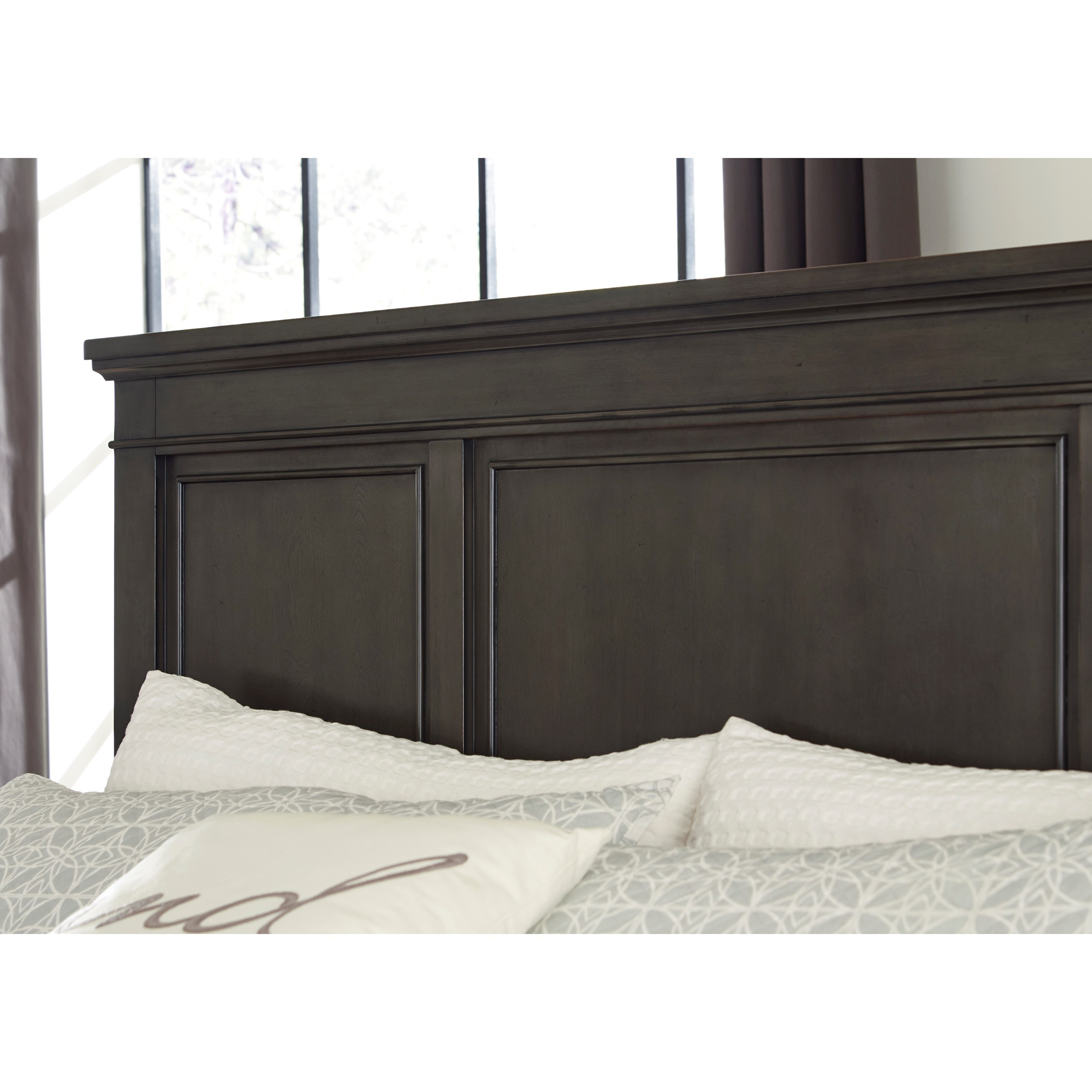 B705 58 Ck Ashley Furniture California King Sleigh Bed: Signature Design By Ashley Devensted Transitional