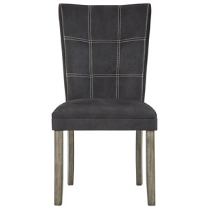 Dark Brown Faux Leather Dining Upholstered Side Chair