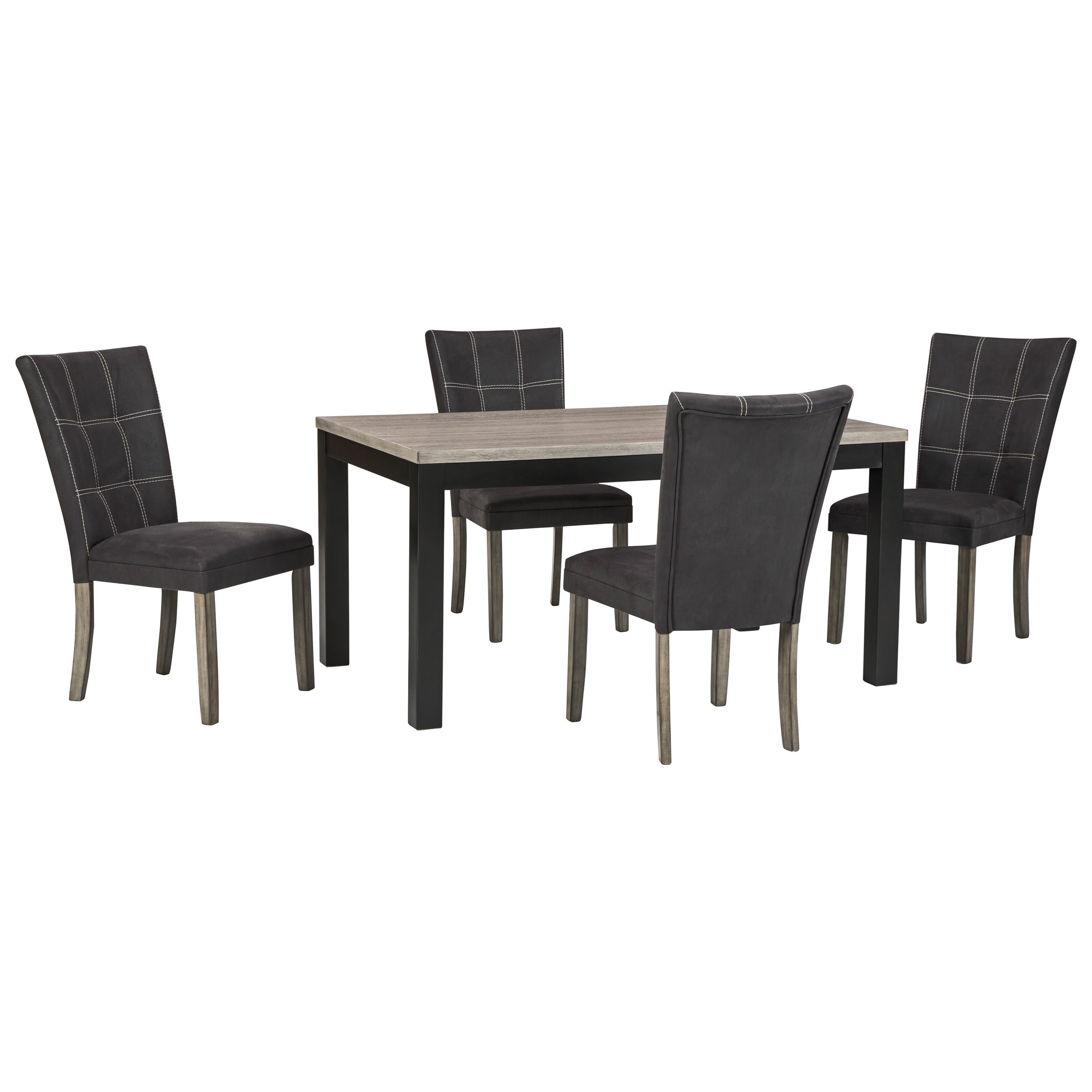 Tufted Chaise Lounge Chair, Benchcraft Dontally 5 Piece Rectangular Dining Table Set Dunk Bright Furniture Dining 5 Piece Sets