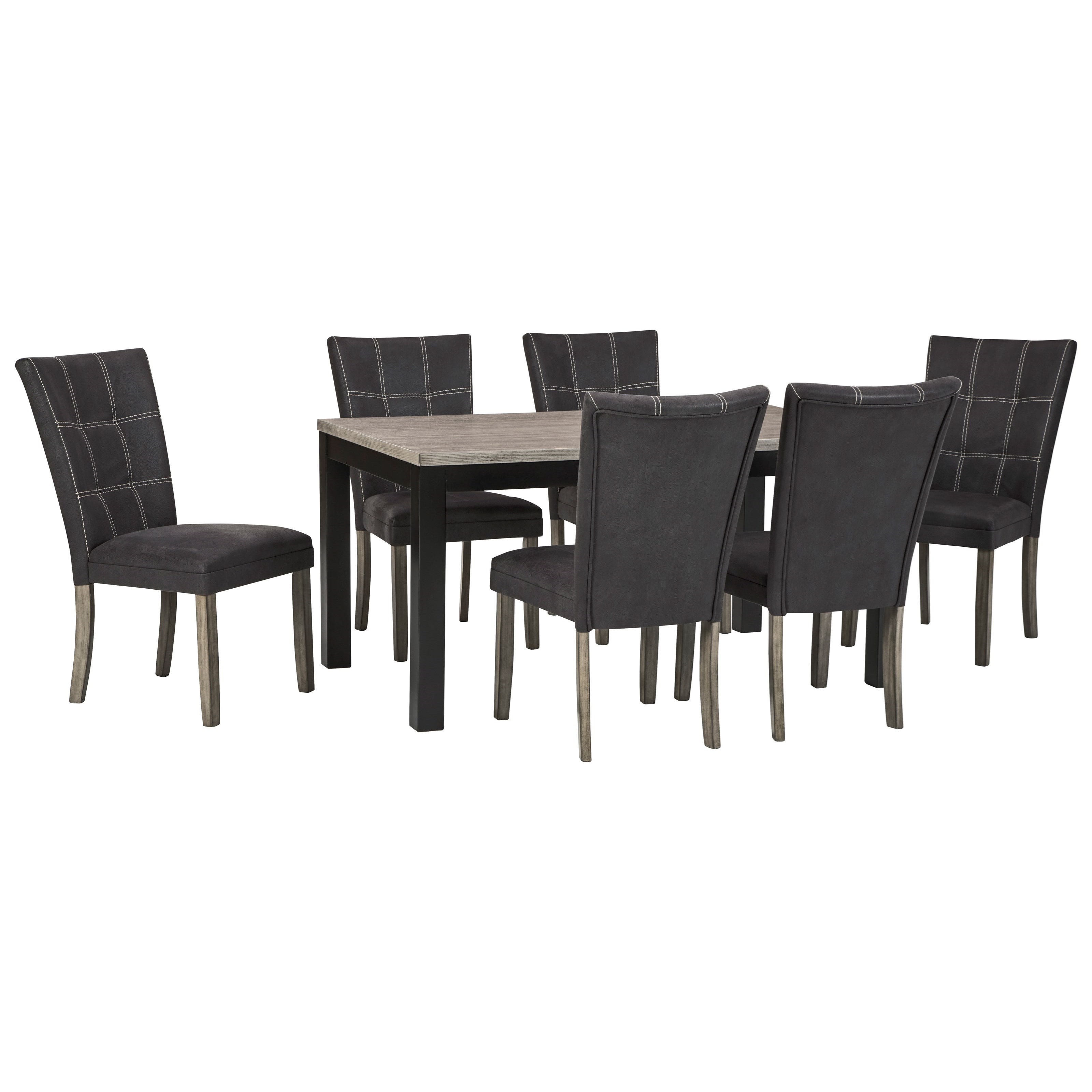 Dontally 7-Piece Rectangular Dining Table Set by Benchcraft at Walker's Furniture