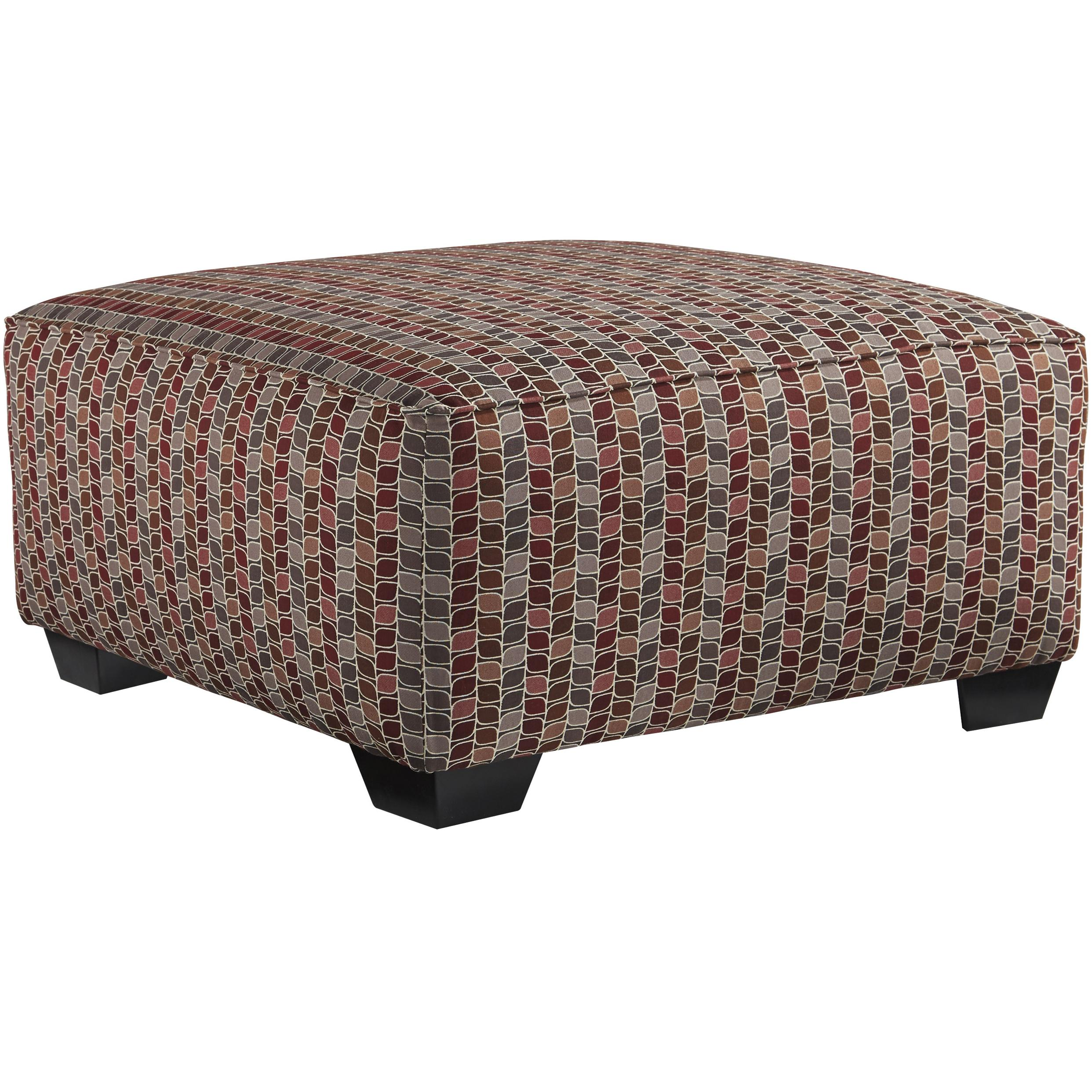 Benchcraft Doralin - Steel Contemporary Oversized Accent Ottoman - Item Number: 8680008