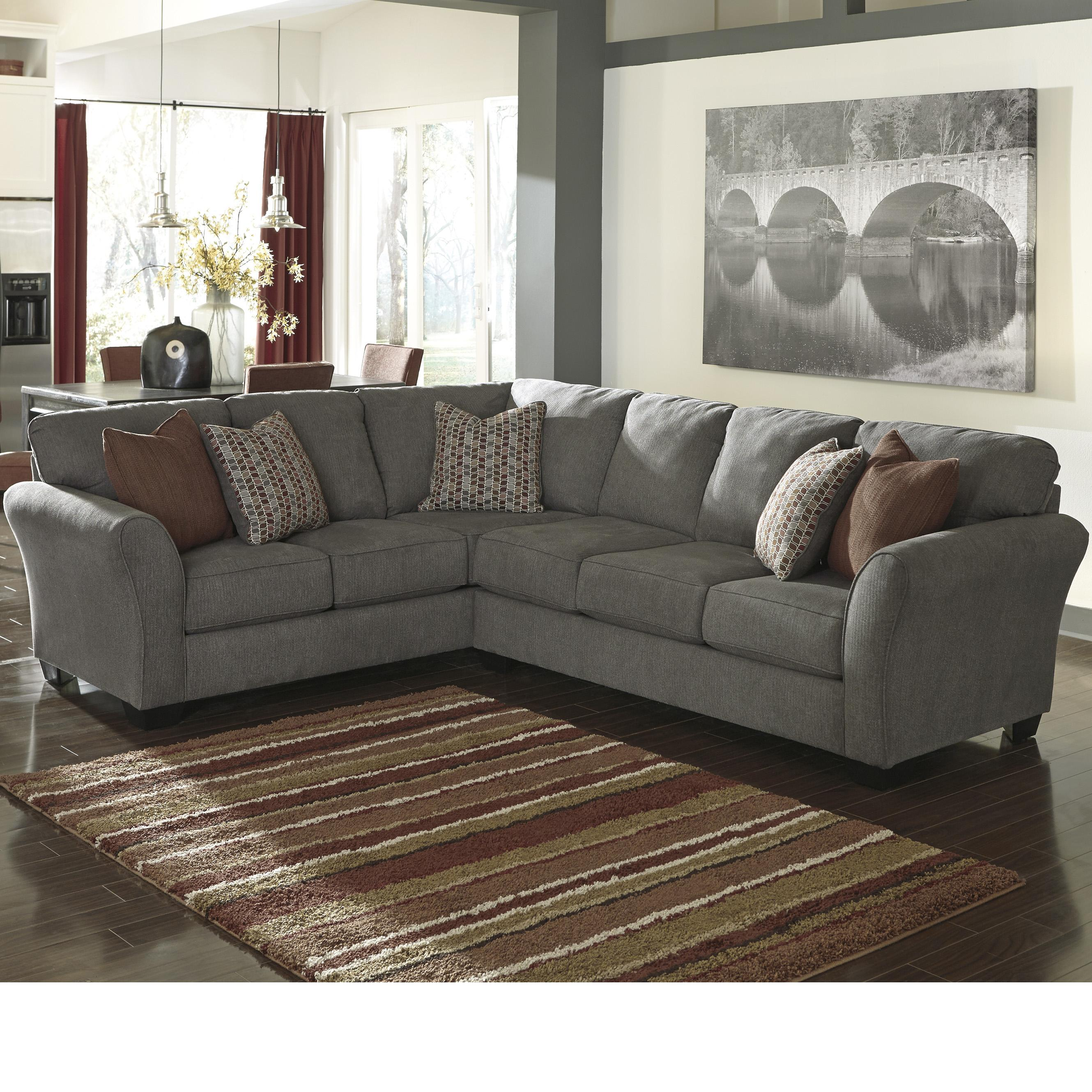 Benchcraft Doralin - Steel Contemporary Sectional - Item Number: 8680048+8680067