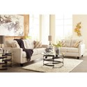Benchcraft Drasco Contemporary Loveseat with Tufted Back
