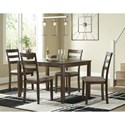 Benchcraft Drewing Dining Table and Chair Set  - Item Number: D358-35+4x01