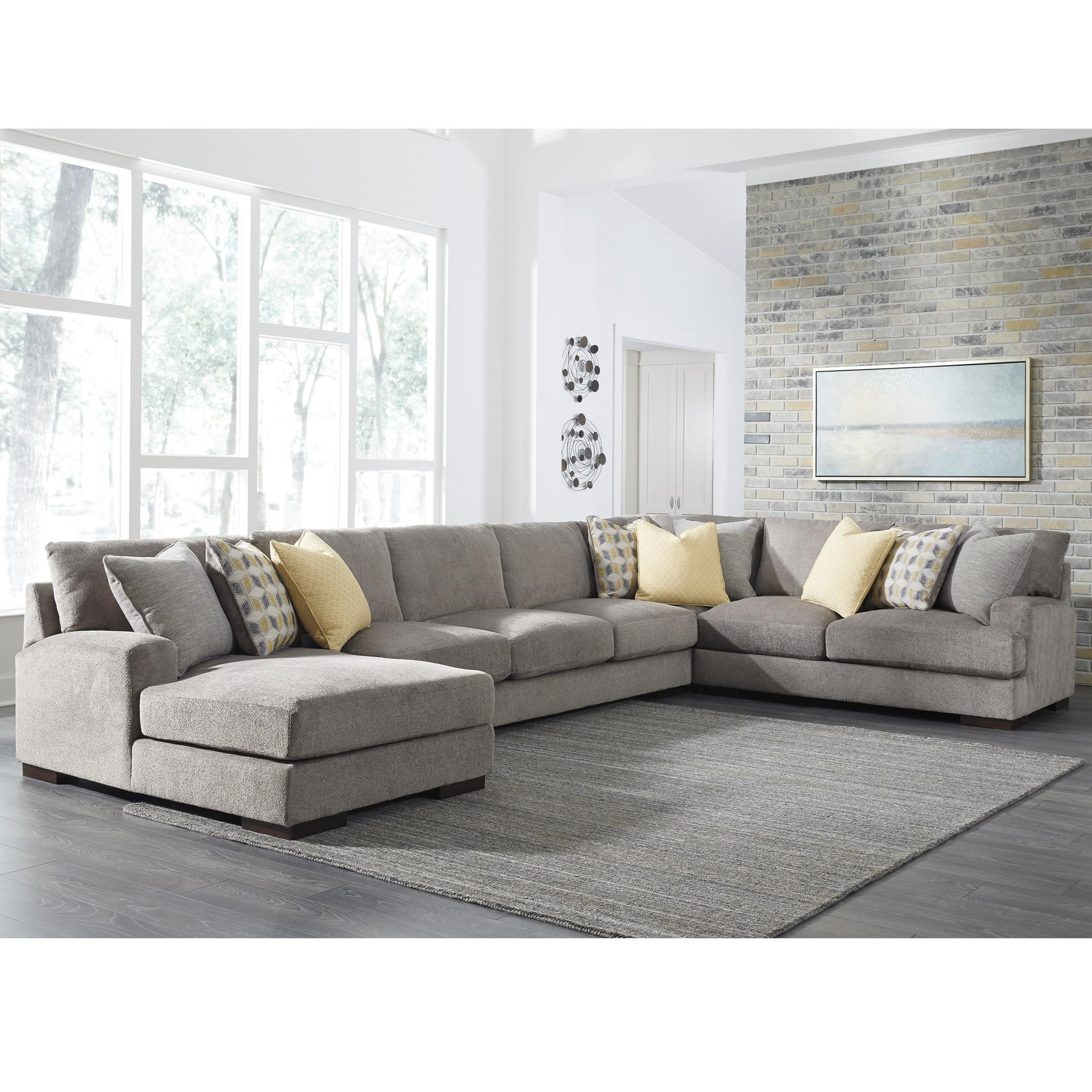 piece benchcraft wolf sectional with contemporary sofa furniture chaise products left by