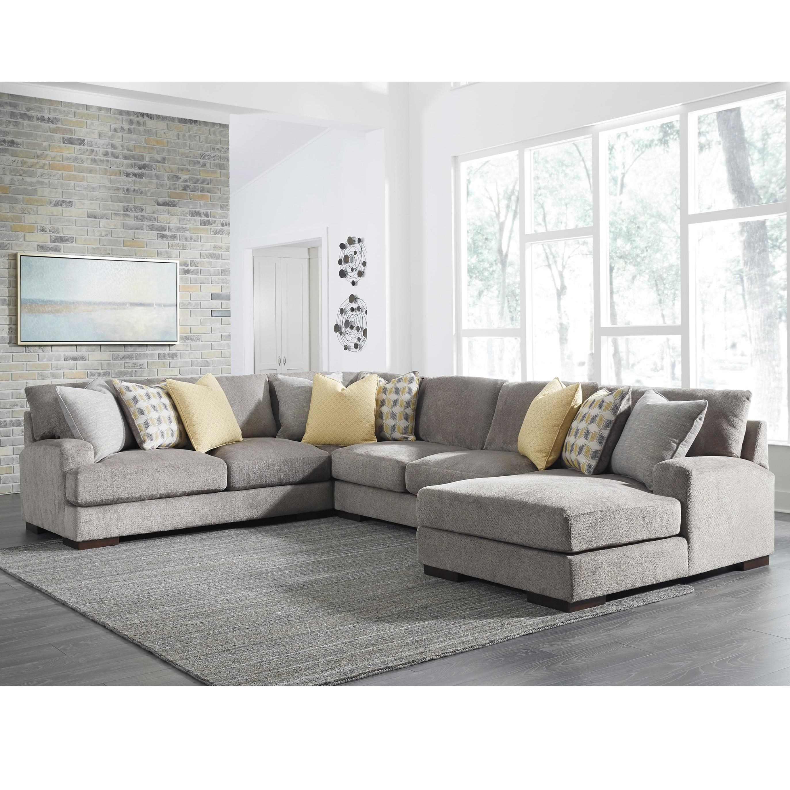 number piece products benchcraft contemporary item with cresson chaise sectional