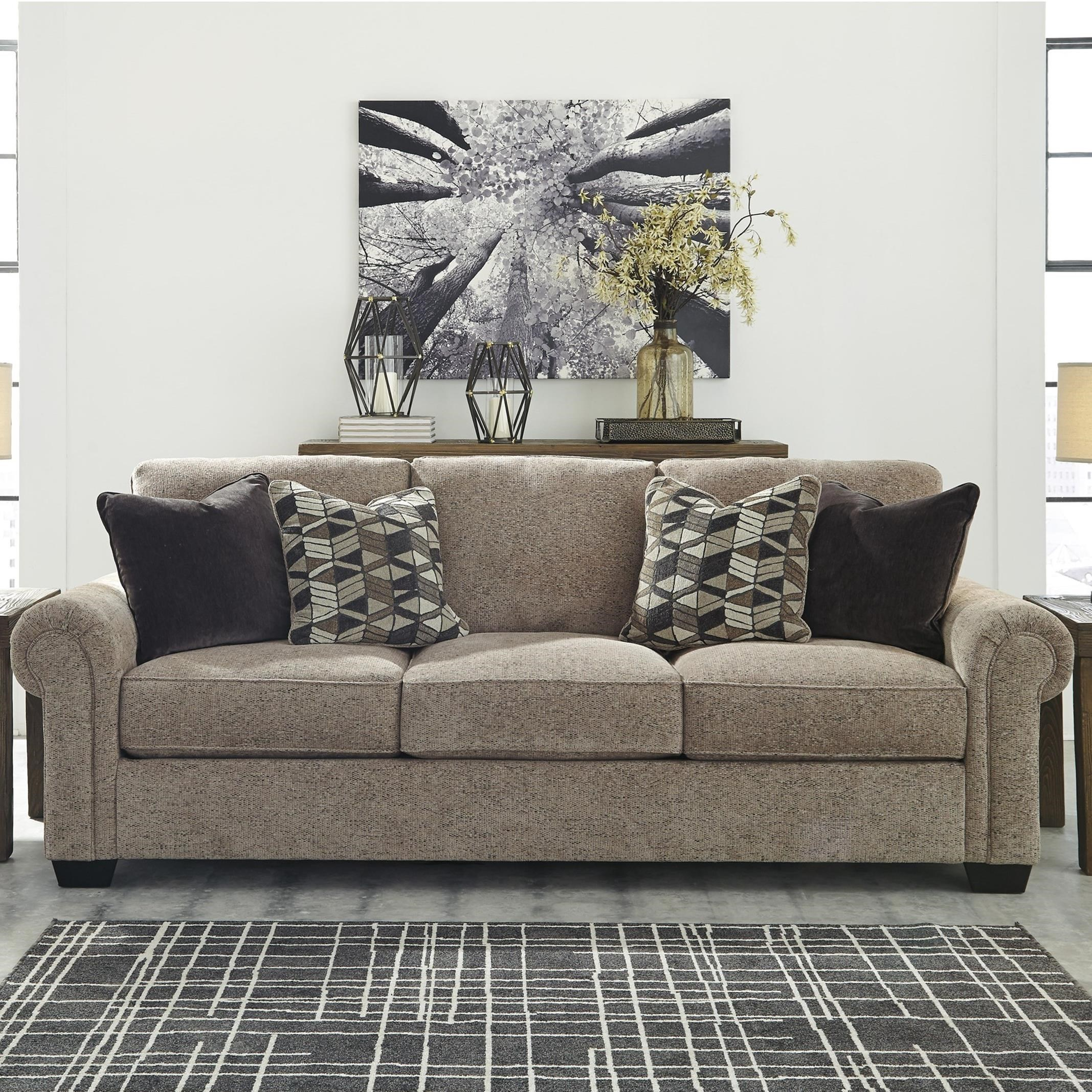 Ashley Furniture Current Sales Ad: Benchcraft By Ashley Fehmarn Stationary Sofa With Rolled