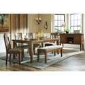 Benchcraft Flaybern Formal Dining Room Group - Item Number: D595 Dining Room Group 3