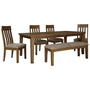 Benchcraft Flaybern 6 Piece Table and Chair Set