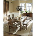 Benchcraft Flaybern 6 Piece Table and Chair Set with Bench