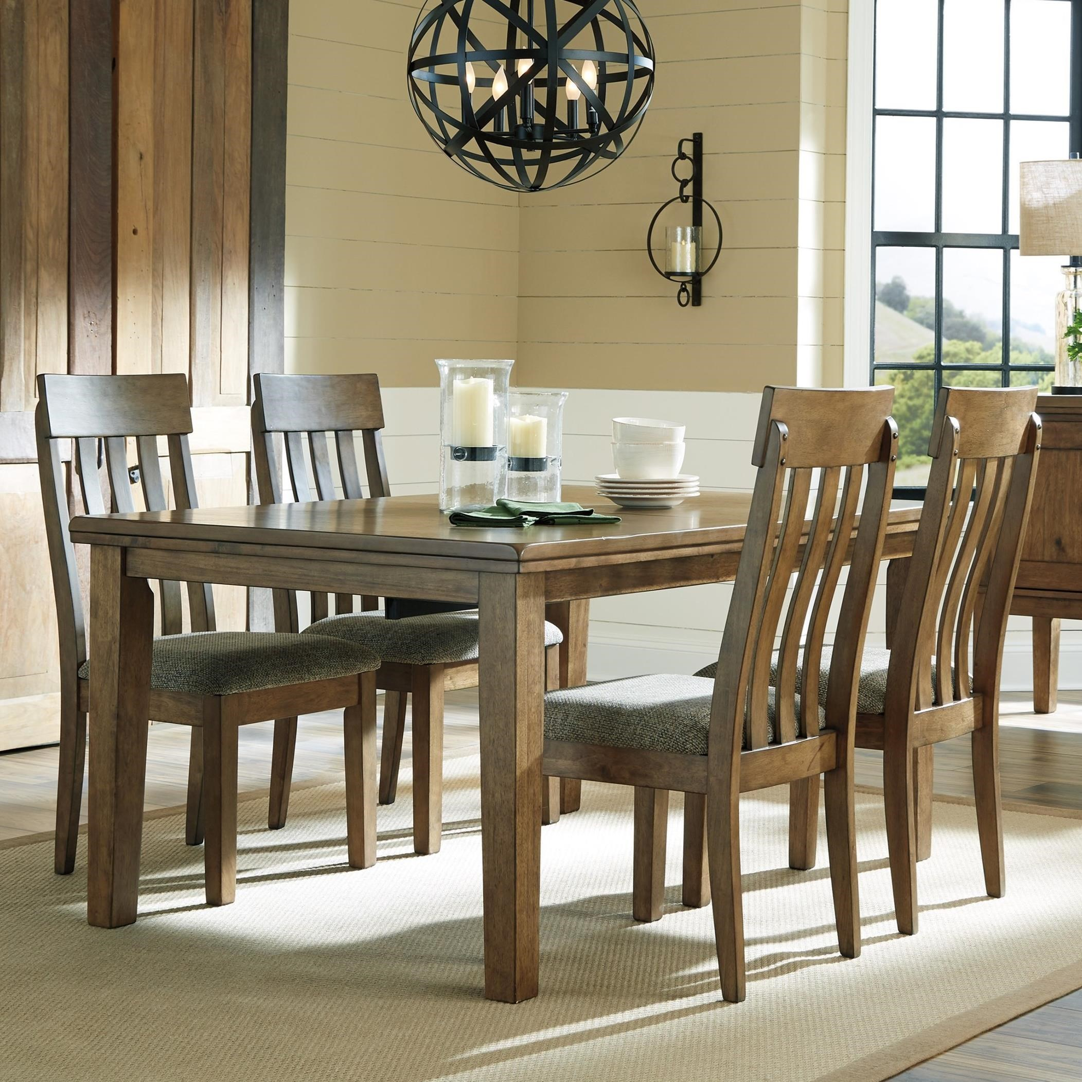 5 Chair Dining Set: Benchcraft Flaybern 5-Piece Rectangular Table And Chair