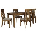 Benchcraft Flaybern 5-Piece Table and Chair Set - Item Number: D595-35+4x01