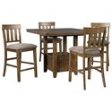 Benchcraft Flaybern 5 Piece Pub Dining Set - Item Number: D595-42+4x124