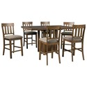 Benchcraft Flaybern 7-Piece Counter Table Set - Item Number: D595-42+6x124