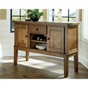 Benchcraft Flaybern Casual Dining Room Server with Wine Rack
