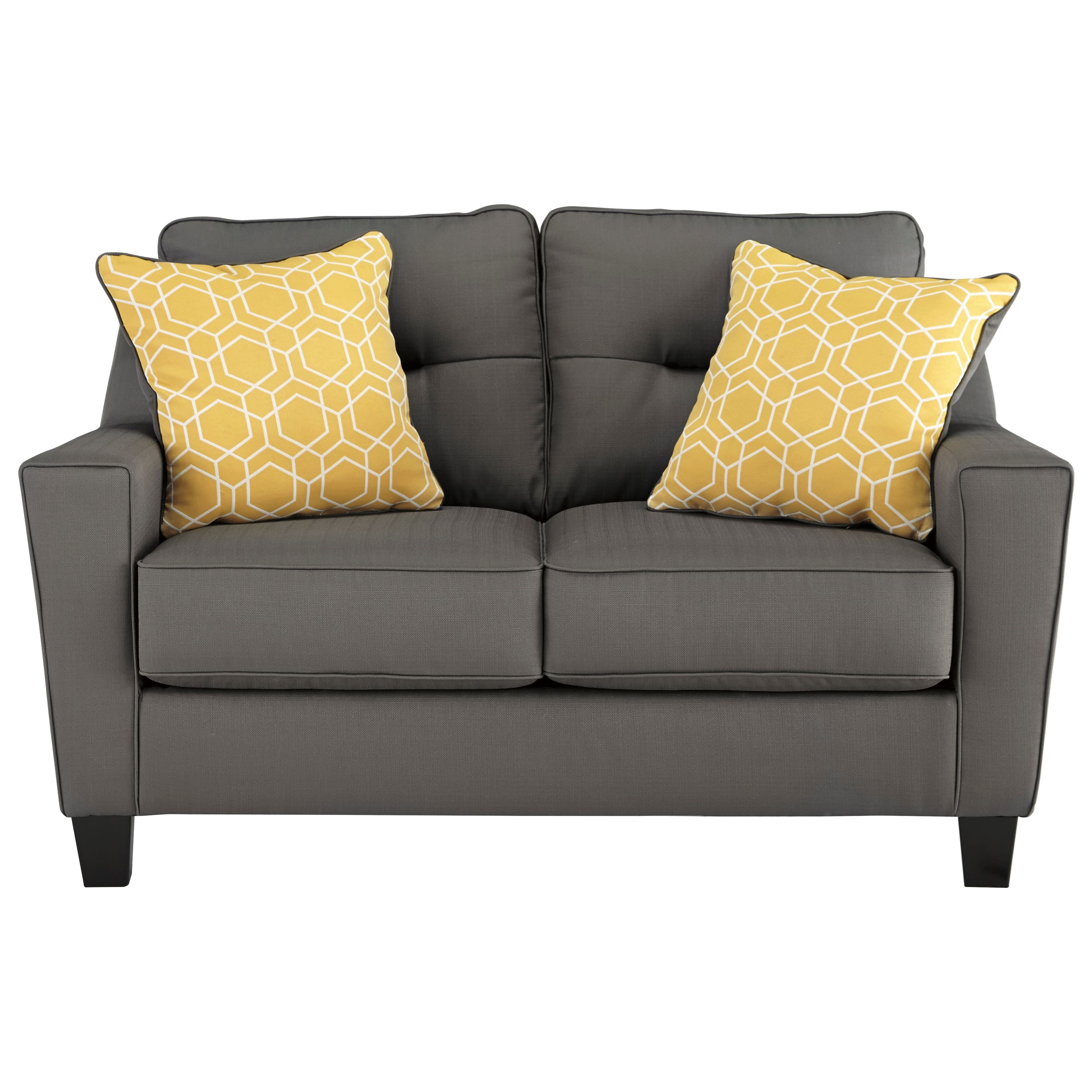 Benchcraft Forsan Nuvella Contemporary Loveseat In Performance Fabric Miskelly Furniture