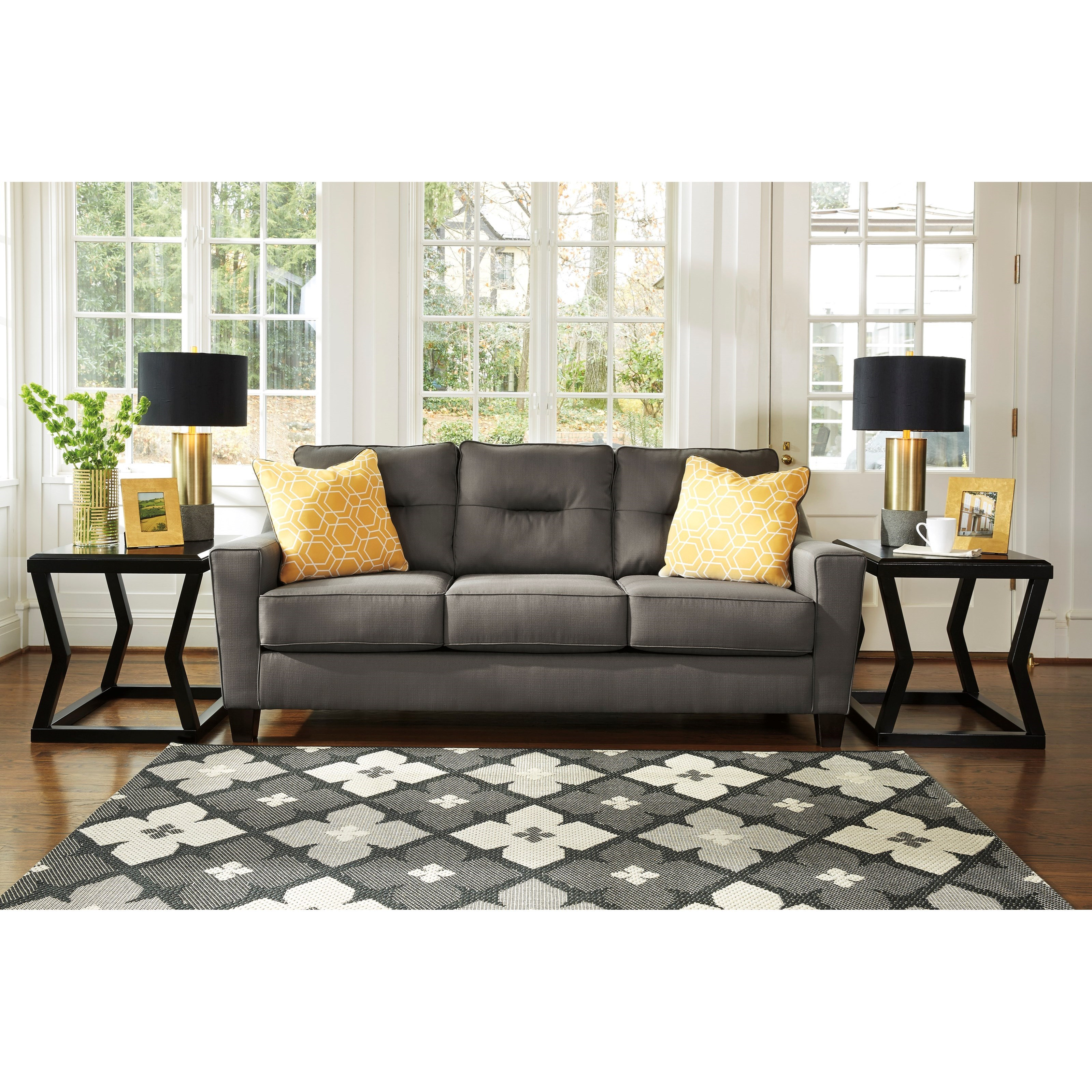 Benchcraft Forsan Nuvella Contemporary Sofa In Performance