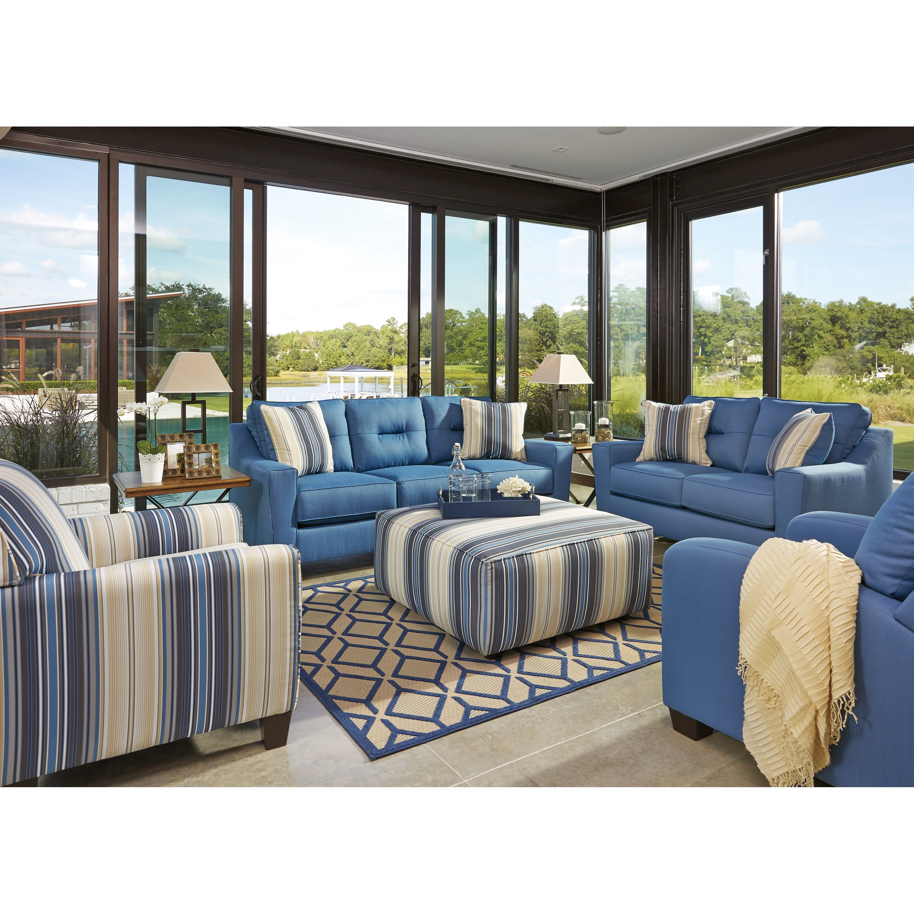 Benchcraft Forsan Nuvella Stationary Living Room Group Value City Furniture Stationary