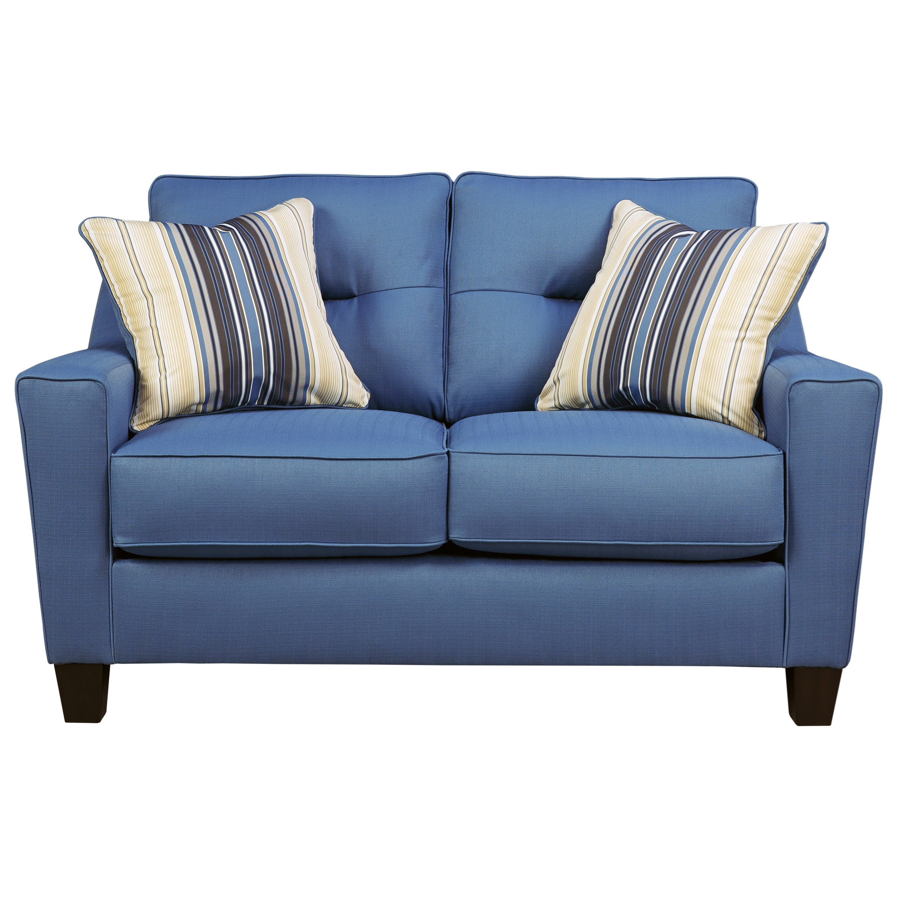 Benchcraft Forsan Nuvella Contemporary Loveseat In Performance Fabric Value City Furniture