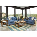 Benchcraft Forsan Nuvella Contemporary Loveseat in Performance Fabric