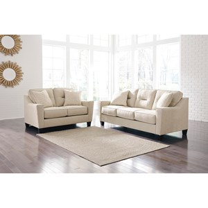 Benchcraft Forsan Nuvella Stationary Living Room Group