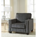 Benchcraft Gavril Contemporary Chair with Nailhead Trim