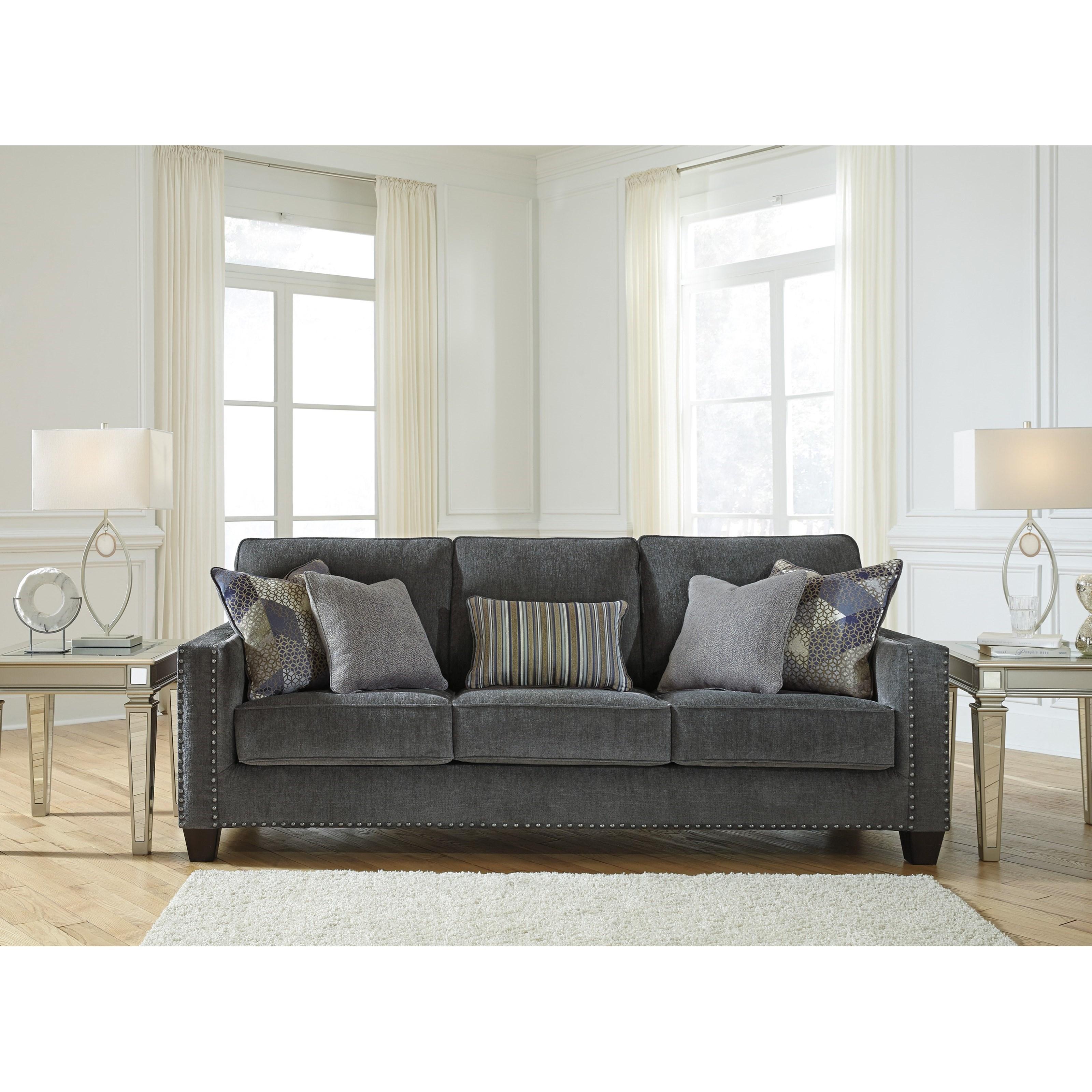Modern Nailhead Sofa: Benchcraft Gavril Contemporary Sofa With Nailhead Trim