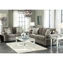 Benchcraft Gilman Transitional Sofa with Nailheads