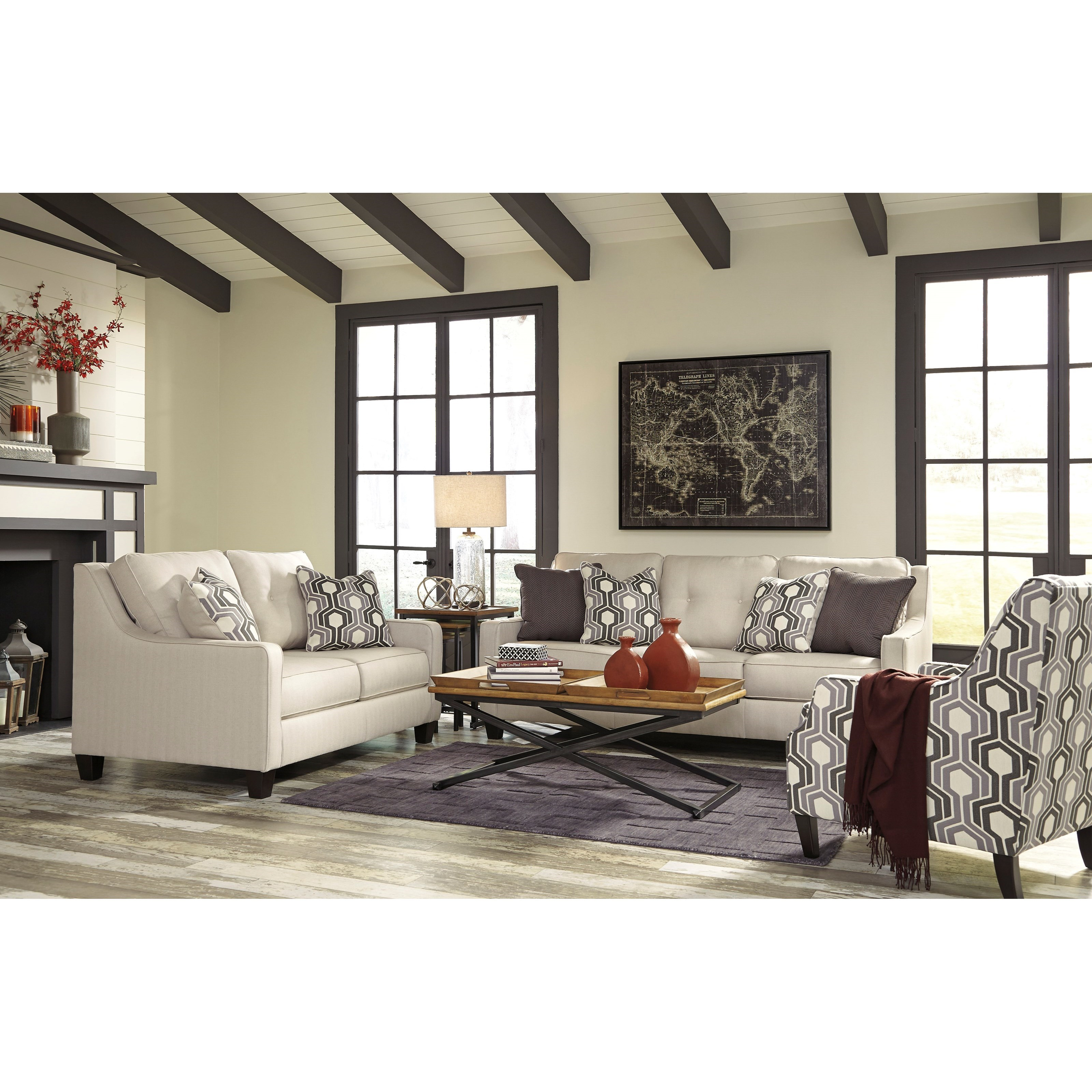 Ashley/Benchcraft Guillerno Stationary Living Room Group - Item Number: 71801 Living Room Group 3